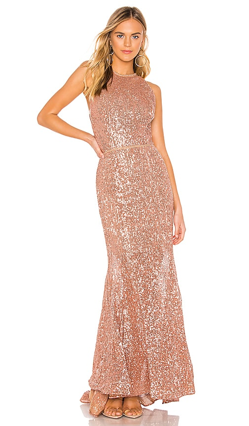 699eabe6d727 Bronx and Banco Moon Gown in Bronze | REVOLVE