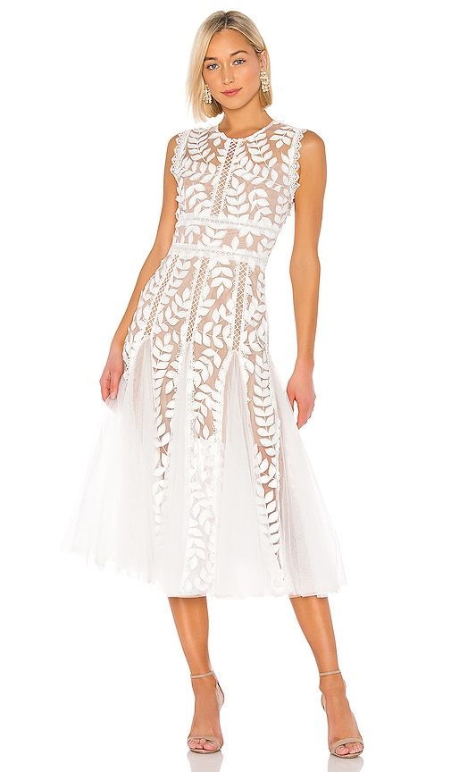 Saba Blanc Midi Dress Bronx and Banco $437 BEST SELLER