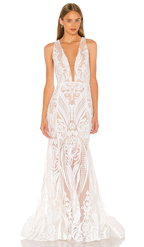 Ester V Neck Gown Bronx and Banco $665