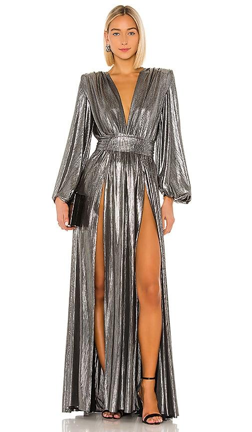 Zoe Silver Gown