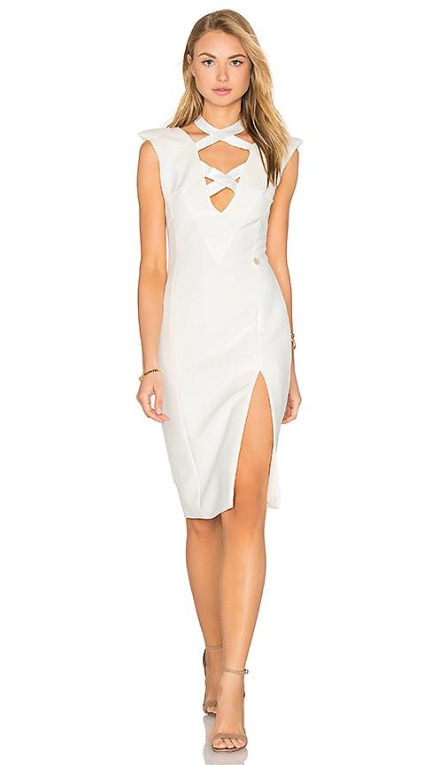 Bronx and Banco Shanghai Midi Dress in White
