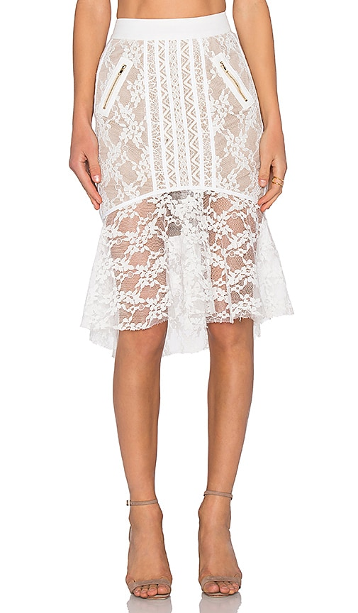 Bronx and Banco Derby Skirt in White
