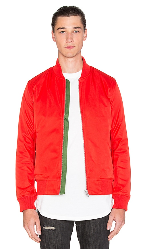Black Scale Lewis Jacket in Red