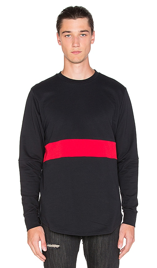 Black Scale Mahady L/S T-Shirt in Black