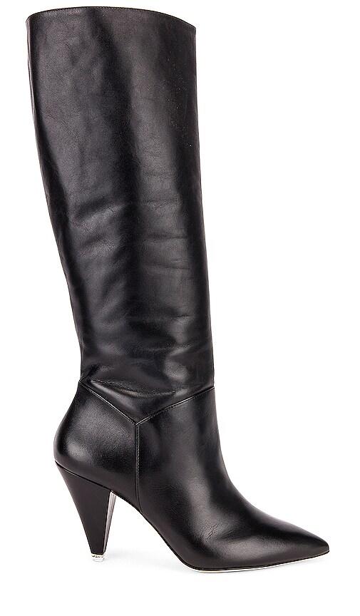 Black Suede Studio Karla Boots in Black