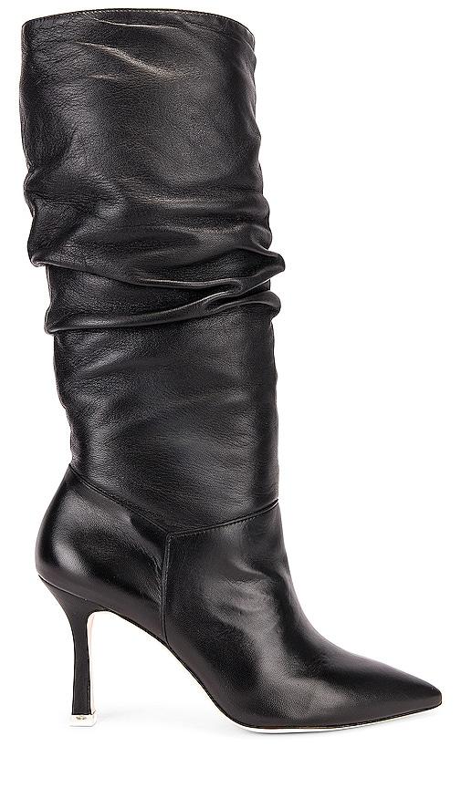 Black Suede Studio Grecia Boots in Black