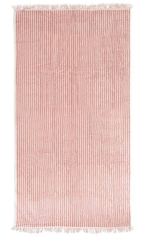 Business & Pleasure Co. The Beach Towel In Laurens Pink Stripe