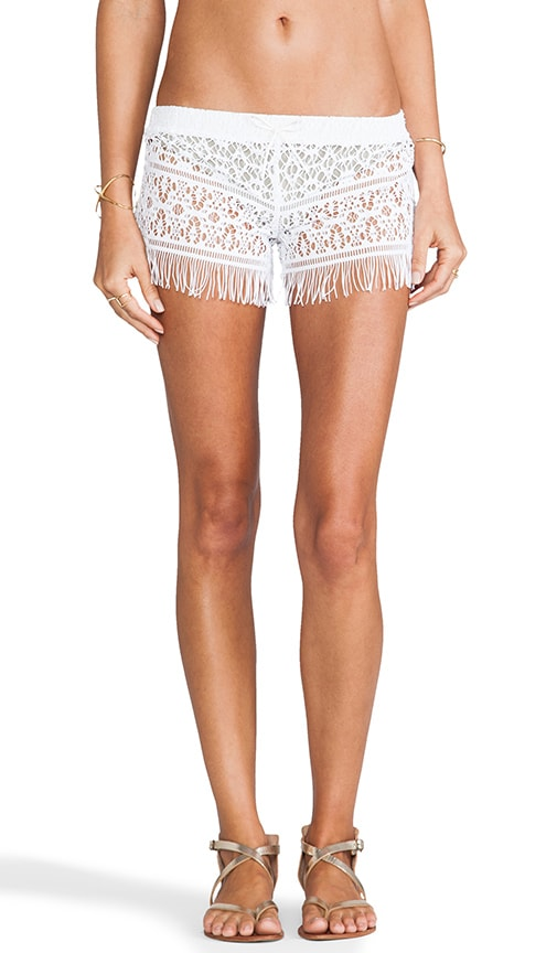 Crochet Fringed Shorts