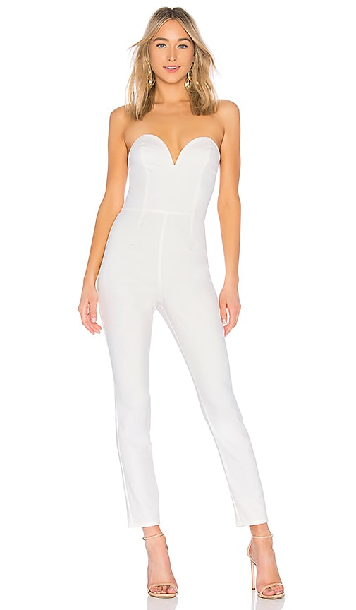 by the way. Carina Sweetheart strapless jumpsuit in White