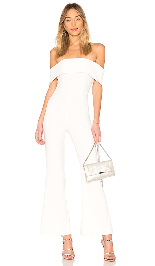 0733a3ff947 superdown Aubrey Off Shoulder Jumpsuit in White