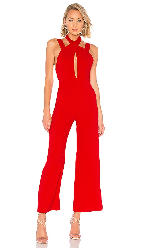acfadcab7cf by the way. Foxy Wide Leg Jumpsuit in Red