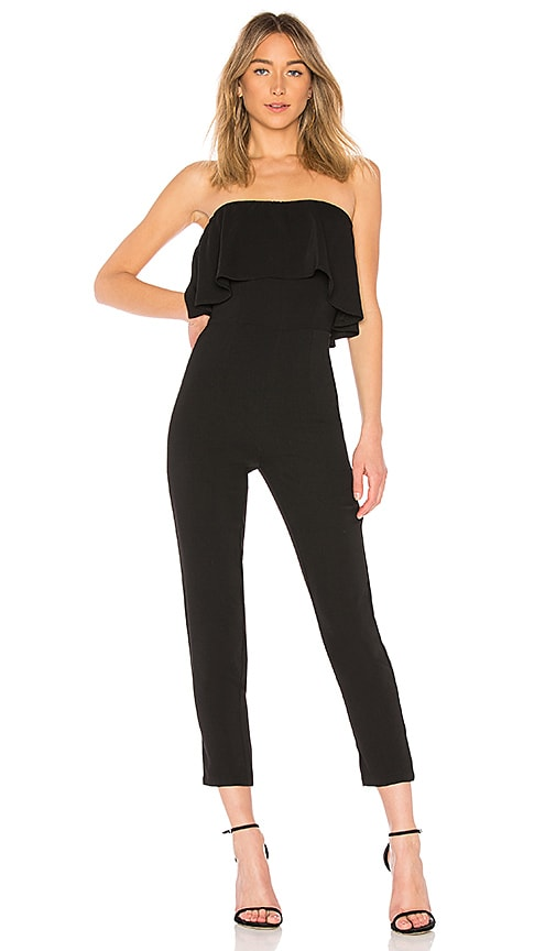 Reina Ruffle Jumpsuit in Black. - size XS (also in L,M,S,XL,XXS) by the way.