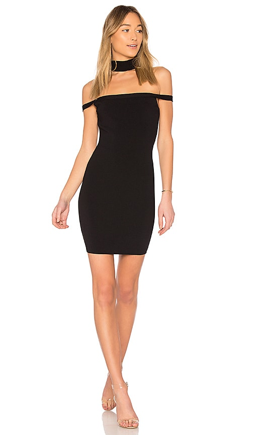 by the way. Sophia Choker Knit Mini Dress in Black
