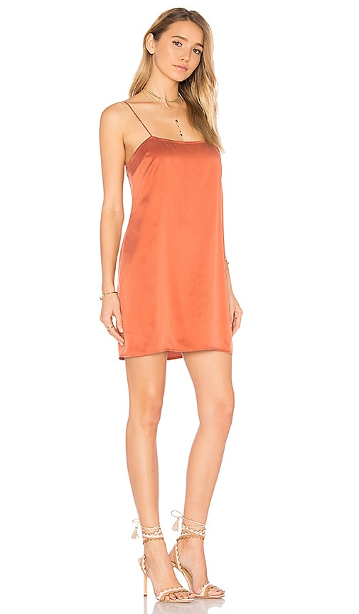 by the way. Holden Silk Slip Dress in Rust
