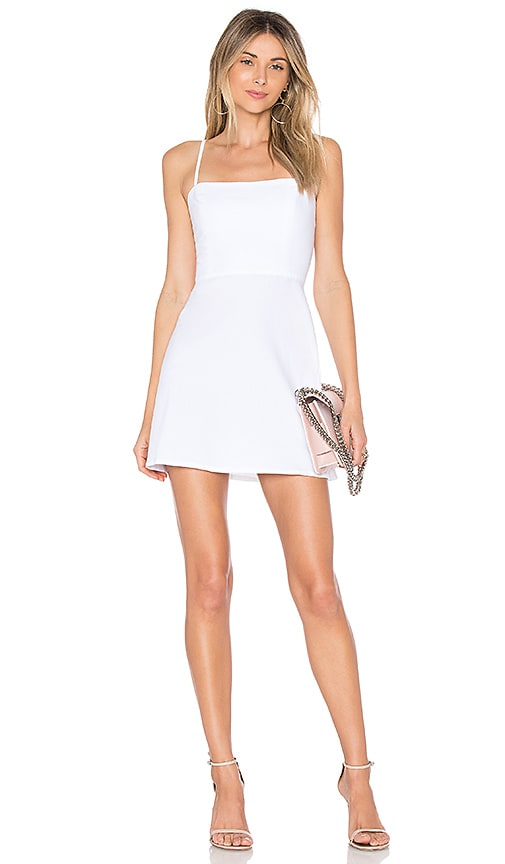 by the way. Vienna A-Line Mini Dress in White