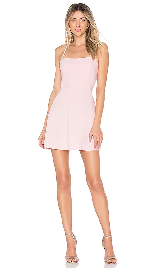 by the way. Vienna A-Line Mini Dress in Blush