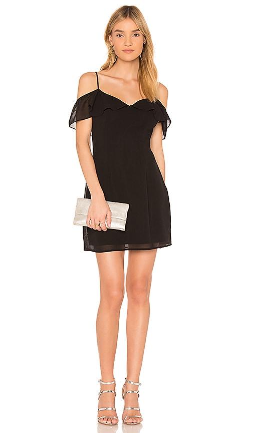 by the way. Celeste Off Shoulder Mini Dress in Black