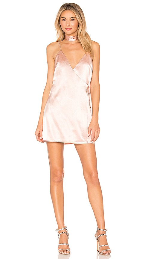 Brandy Satin Wrap Dress in Cream. - size M (also in L,S) by the way.