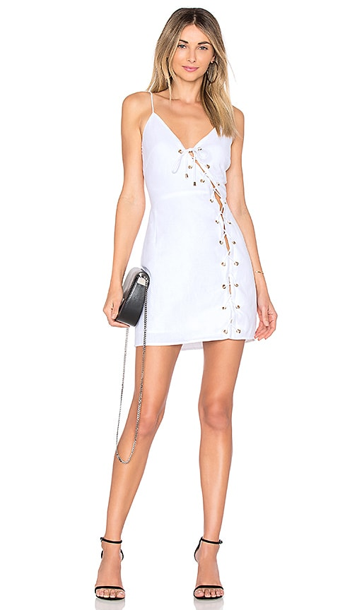 by the way. Raquel Lace Up Dress in White