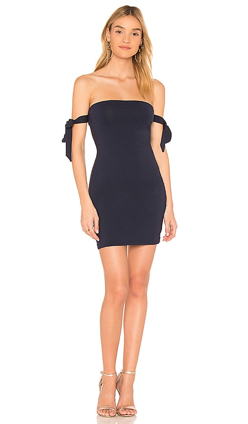 by the way. Ada Tie Strap Mini Dress in Navy