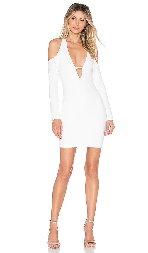 by the way. Anika Cold Shoulder Bodycon Dress in White
