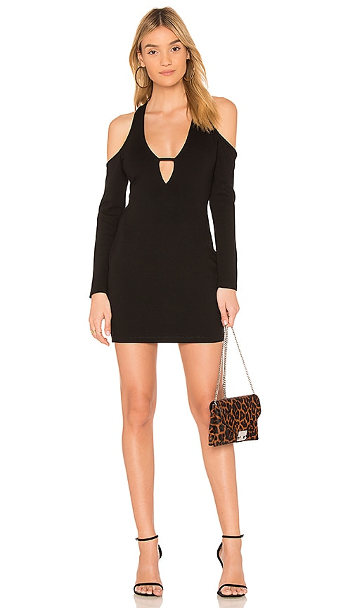by the way. Anika Cold Shoulder Bodycon Dress in Black