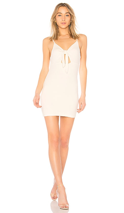 by the way. Haley Tie Front Dress in White
