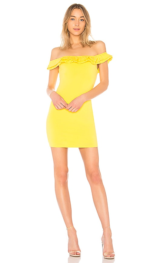 by the way. Mattie Ruffle Mini Dress in Yellow