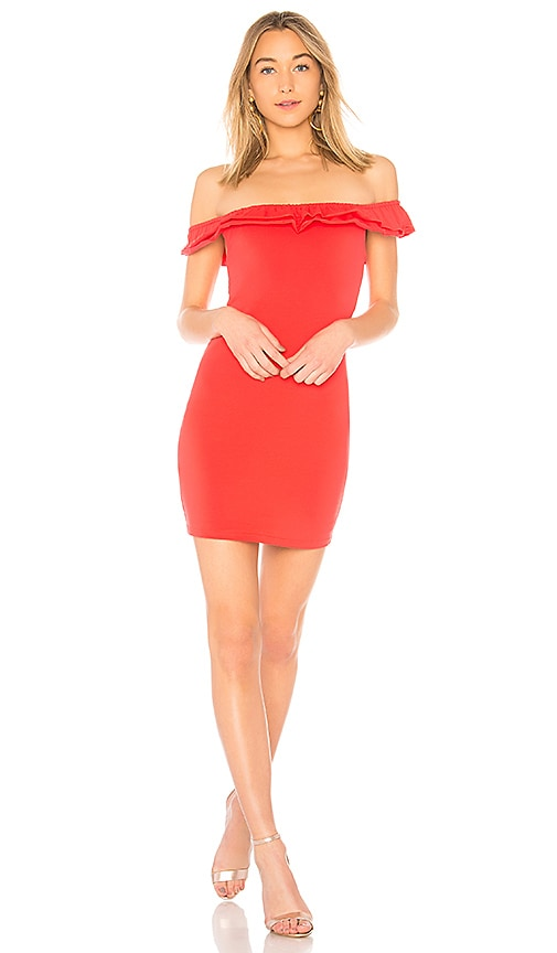 by the way. Mattie Ruffle Mini Dress in Coral