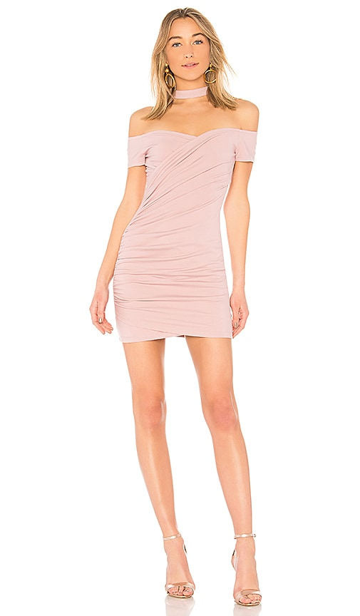 by the way. Cordelia Choker Ruched Dress in Lavender