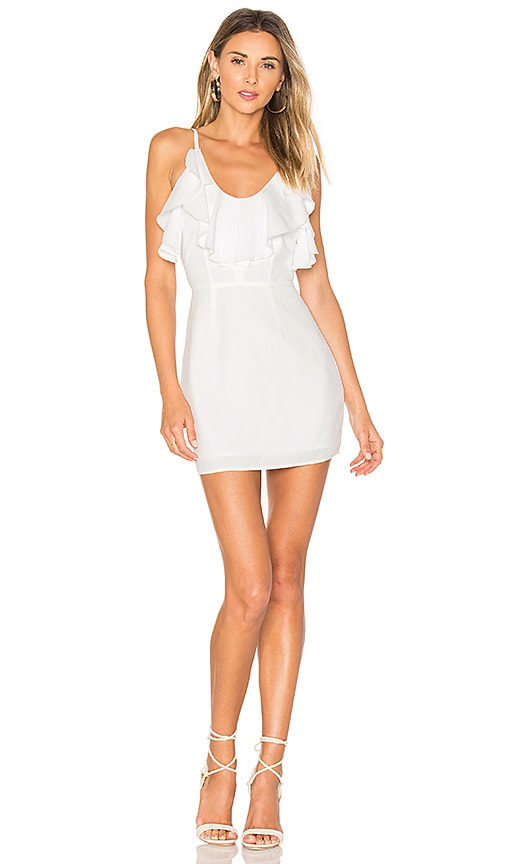 by the way. Nicola Ruffle Mini Dress in White