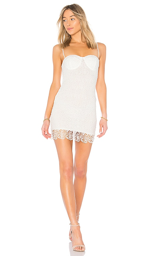 by the way. Adrian Floral Lace Dress in White