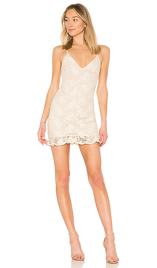 by the way. Sharon Ruffle Dress in Ivory