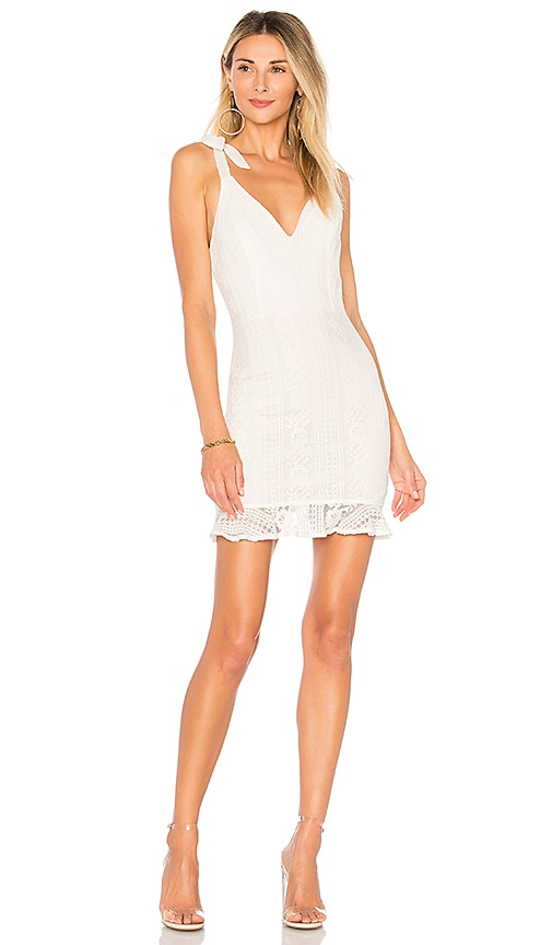 by the way. Mallory Ruffle Lace Dress in White