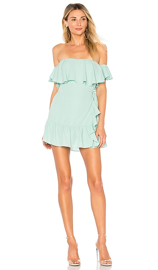 by the way. Jolene Ruffle Wrap Dress in Mint