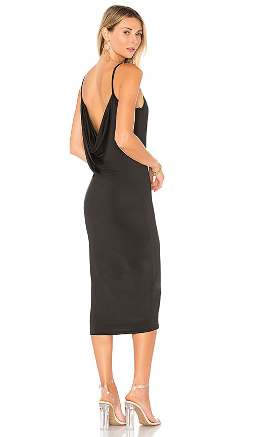 by the way. Aubrie Cowl Back Midi Dress in Black