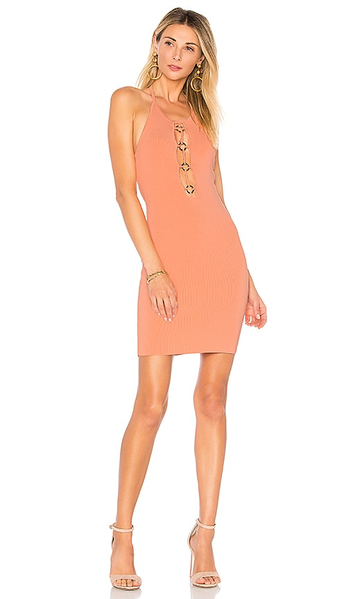by the way. Gwen O Ring Halter Dress in Peach