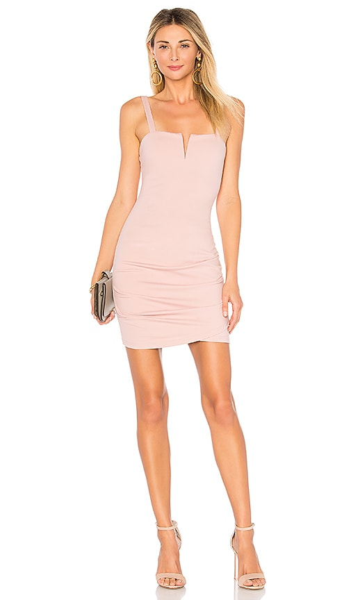 by the way. Alma V Wire Mini Dress in Mauve