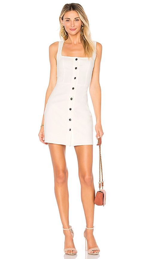 by the way. Demi Button Up Mini Dress in White