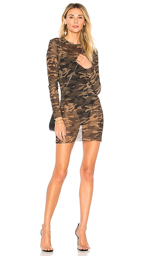 by the way. Ciara Mesh Camo Dress in Olive