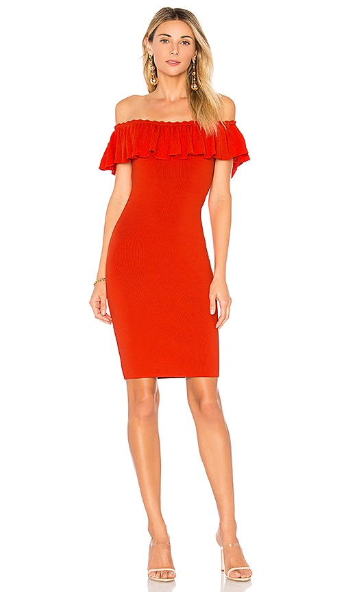 by the way. Whitney Off The Shoulder Dress in Red