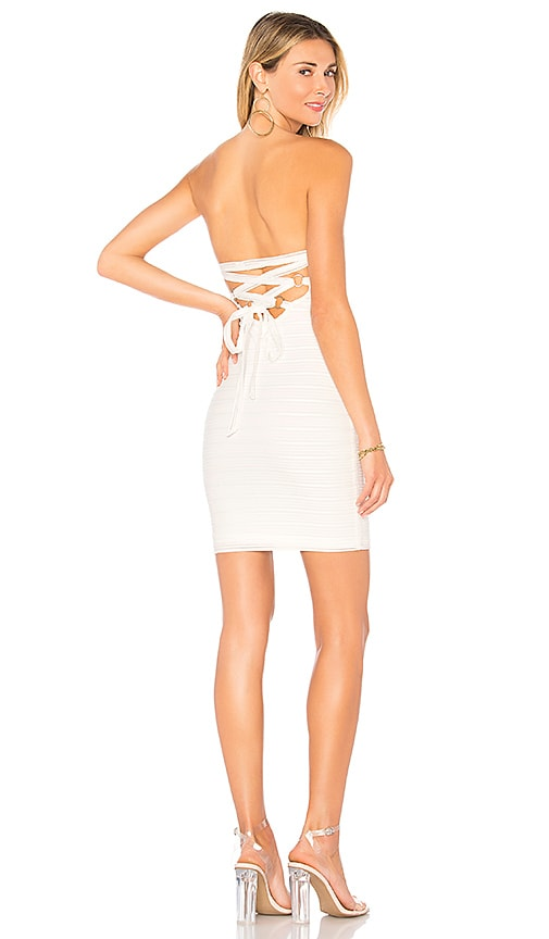by the way. Lara Strapless Dress in Ivory