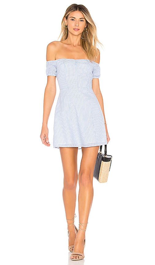 by the way. Leila Off Shoulder Dress in Blue