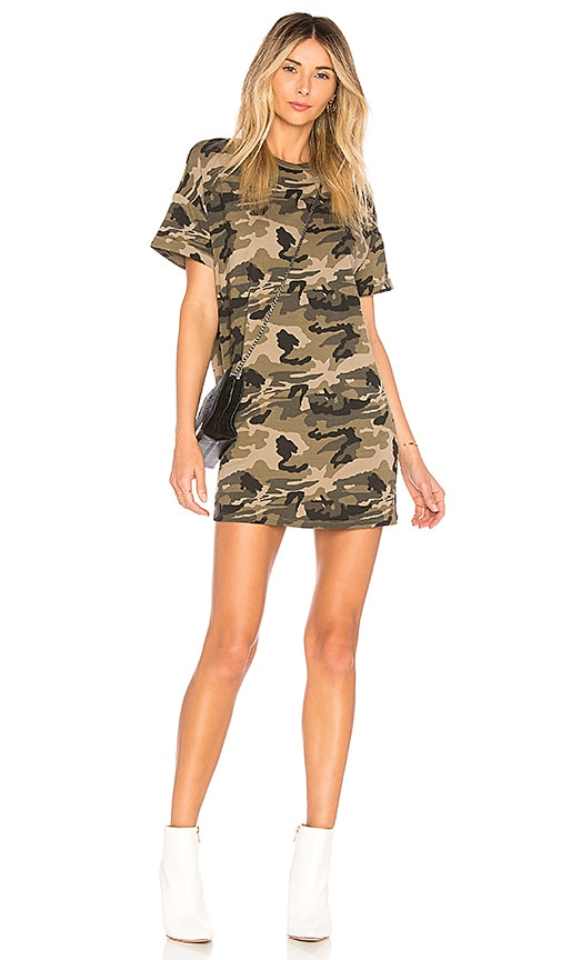 by the way. Clara Camo Dress in Green