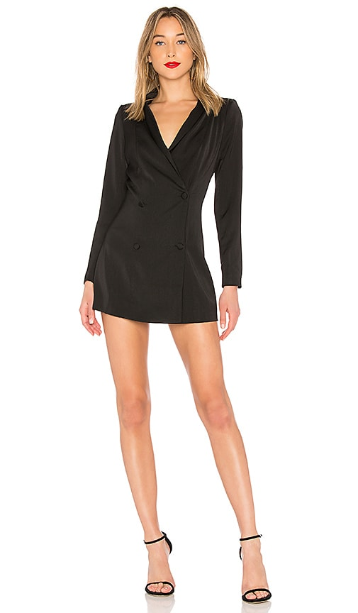 by the way. Vanessa Blazer Dress in Black