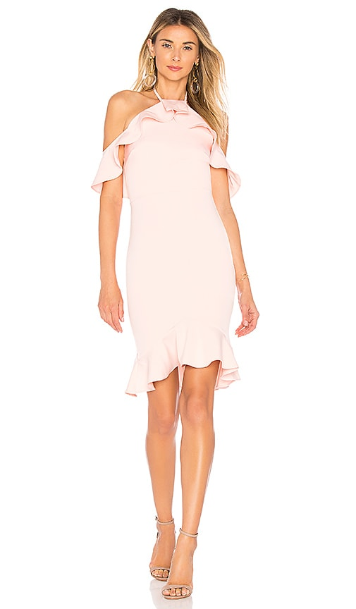 by the way. Natalia Ruffle Halter Dress in Pink