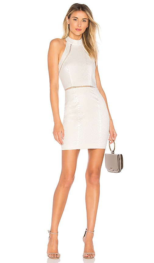 by the way. Bailey Snakeskin Dress in White