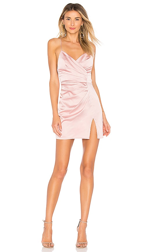 25a1ddacf2fa superdown Kimora Satin Pleated Dress in Blush | REVOLVE