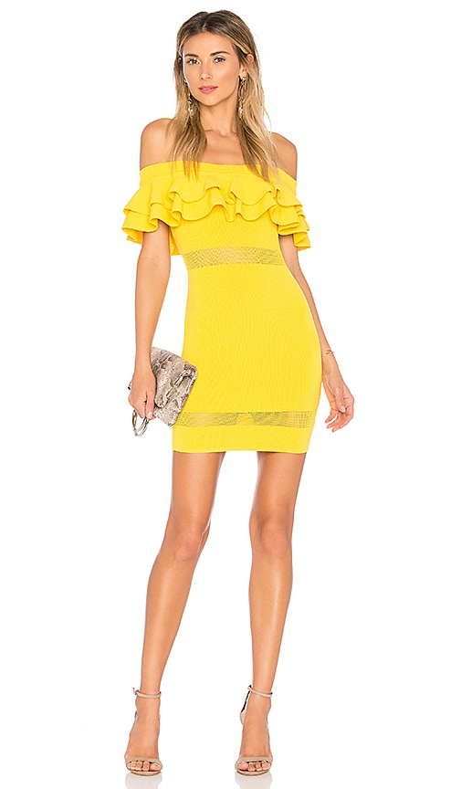 by the way. Emilie Tiered Knit Dress in Yellow