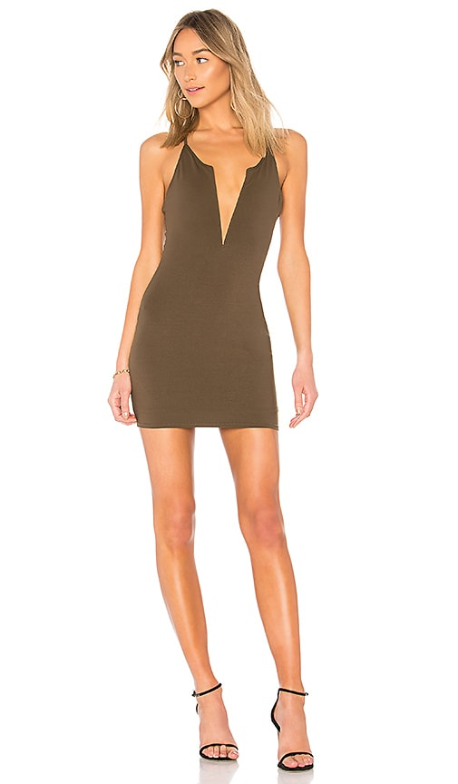 by the way. Frankie Deep V Dress in Olive